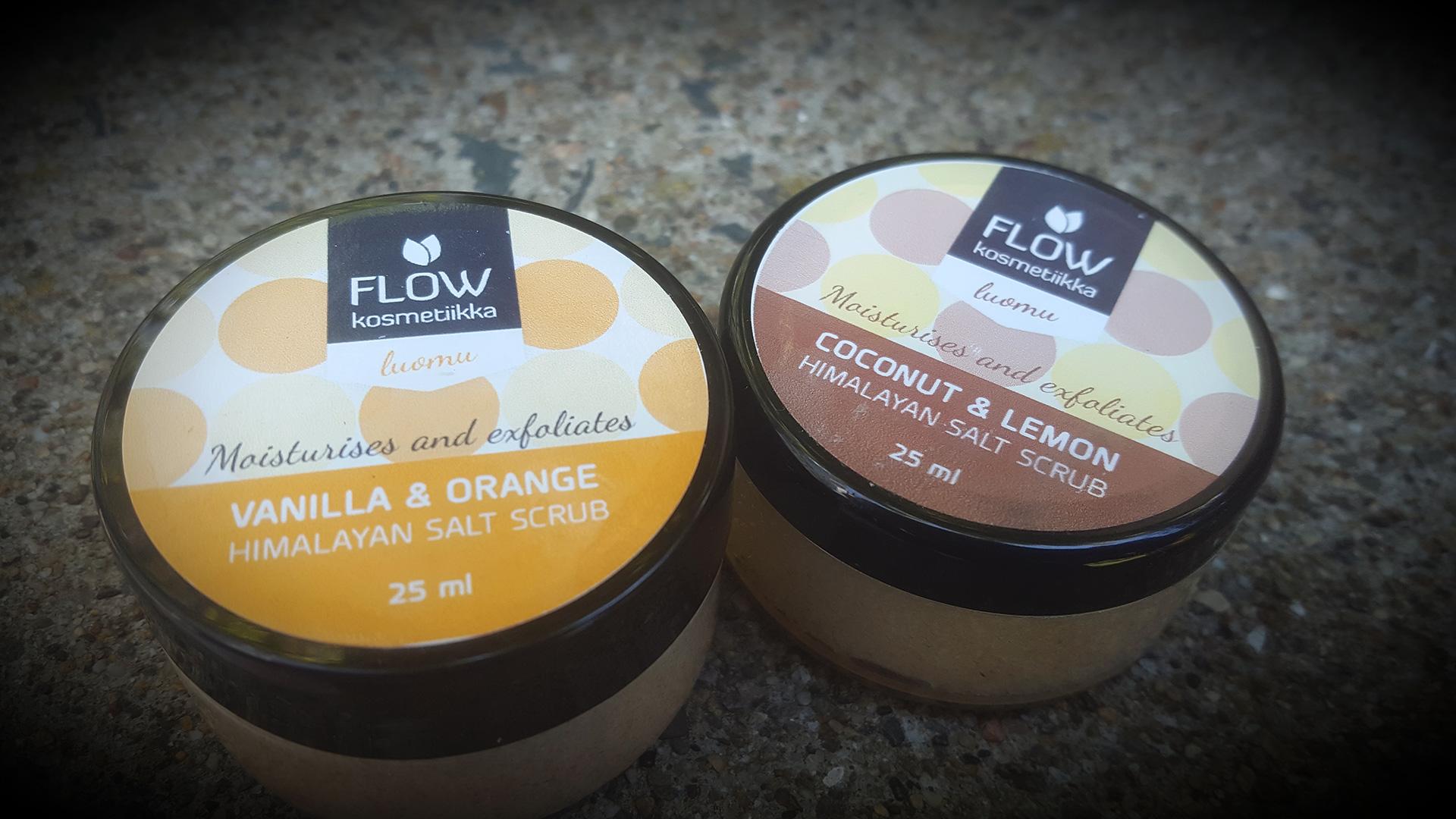 Flow Kosmetiikan suolakuorintavoiteet. ©Reetta Kemppi