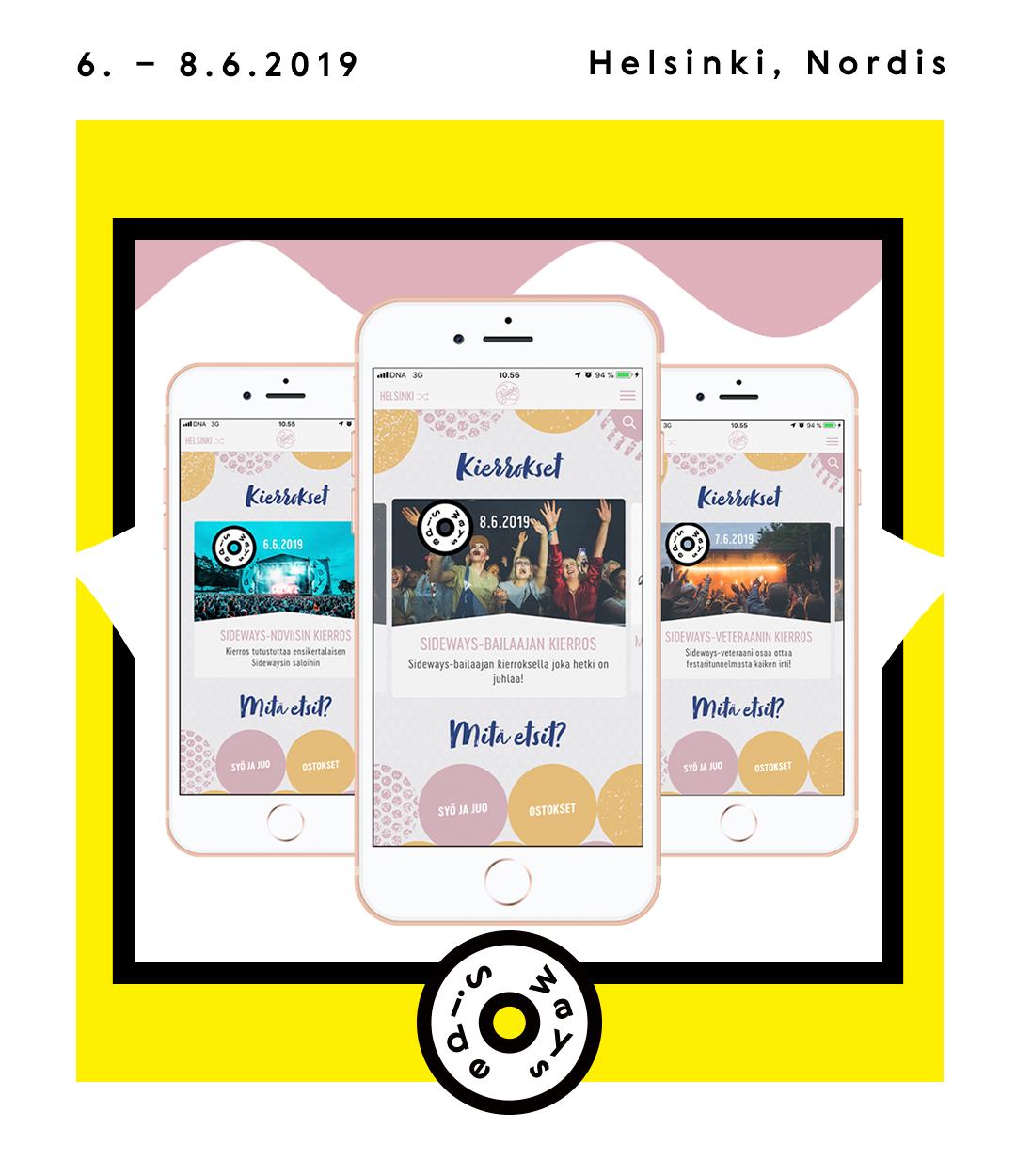 Sideways-kierrokset / Tripsteri App