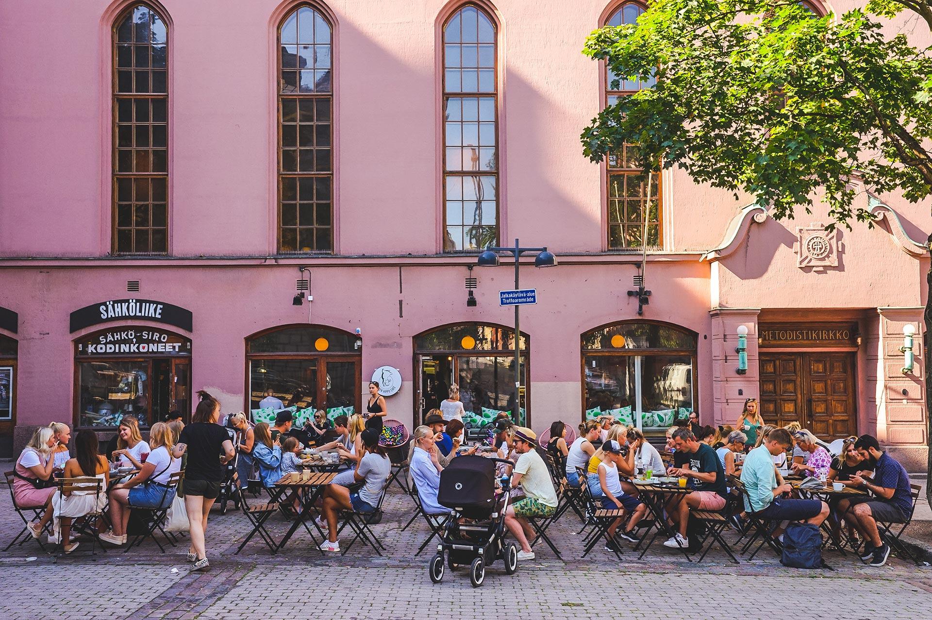 Green Hippo Café -ravintola Helsingissä