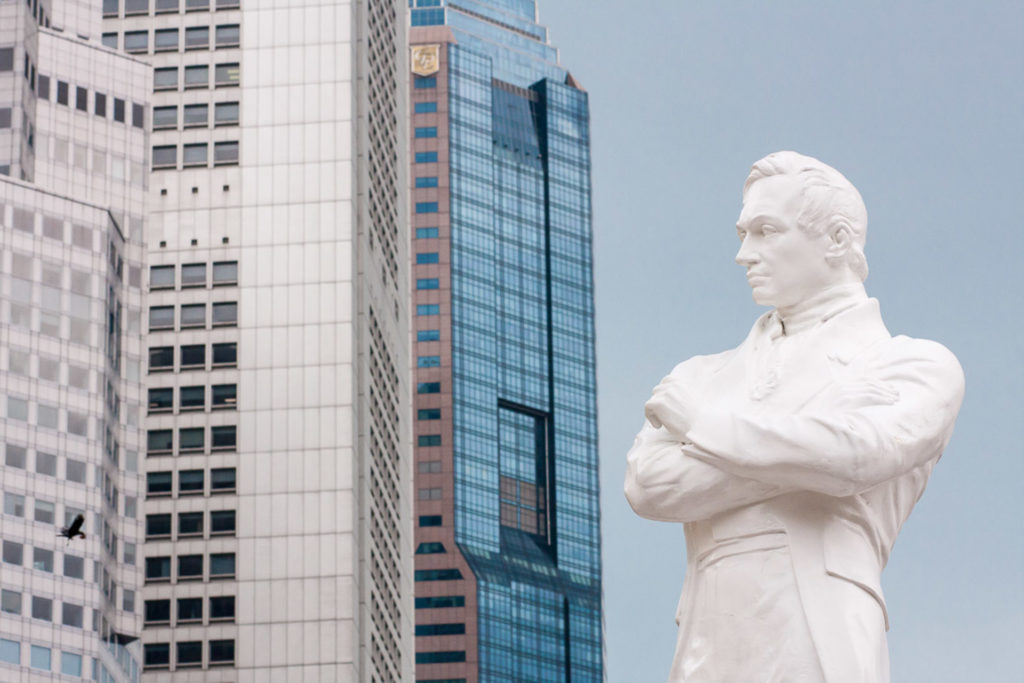 Sir Stamford Raffles on Singaporen perustaja.