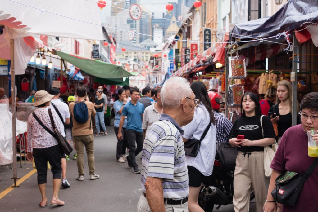 Eläväinen Chinatown street market. Kuva: Soile Vauhkonen