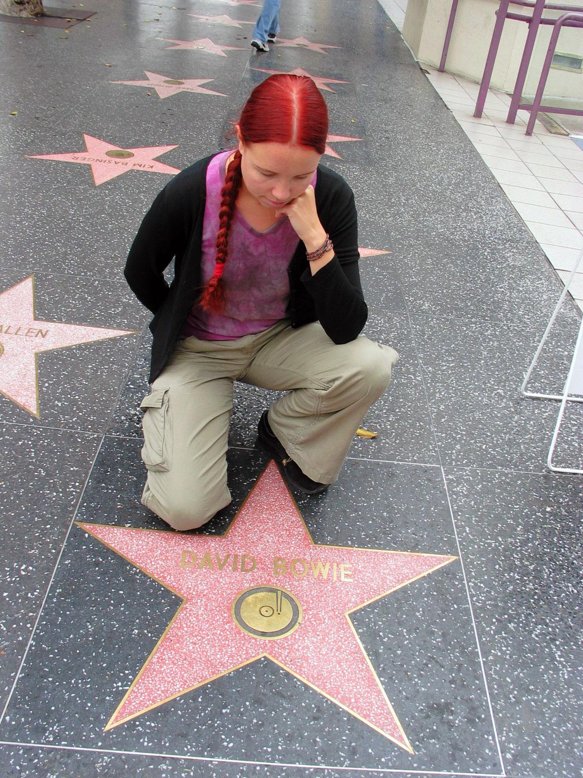 Starman, David Bowien tähti Hollywoodissa. Kuva: Miika Mattila